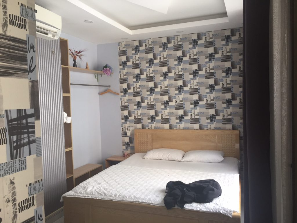 My room at Sky Guest House off of Bui Vien street