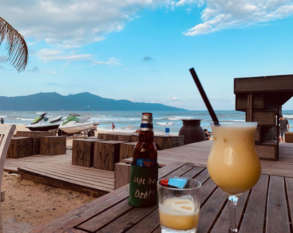 A sunset drink at Danabeach Villas Bar
